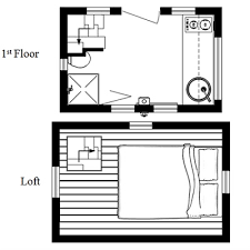 The Nook  Really Small And Easy to Tow Tiny House PlansNook Tiny House Floor Plan from Humble Homes