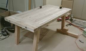 Dining Room Table Plans Ana White Pottery Barn Benchwright Farmhouse Dining Table Diy