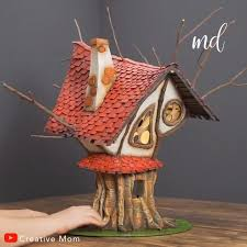[Видео] «A fairytale-like treehouse made of cardboard & forest twigs ...