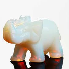 <b>Opal Opalite</b> Tiger eye Elephant <b>Natural stone carved</b> 1.5inch ...