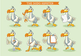 The Dodo <b>Bird</b> Illustration <b>Hipster Style</b> - Download Free Vectors ...