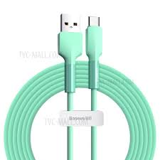 <b>BASEUS Silicone</b> Gel USB Type-C <b>Data</b> Sync Charging Cable, 2m ...