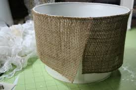 Decorating With Burlap Decor Tips Charming Floor Lamp Ideas With Burlap Lamp Shade And