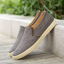 <b>2019 Men Canvas Shoes</b> Breathable <b>Men's</b> Loafers Slip on Solid ...