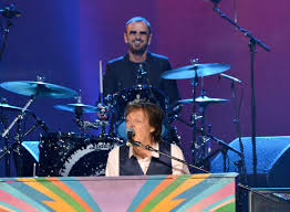 paul mccartney and ringo starr by larry busacca jpg david letterman interviews paul mccartney and ringo starr for cbs beatles tribute