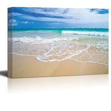 Romantic <b>Scene</b> of <b>Sea</b> Waves on The Tropical Hawaii Beach <b>Wall</b> ...