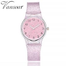 <b>Vansvar Fashion Jelly Silicone</b> Transparent Plastic Quartz Watch ...