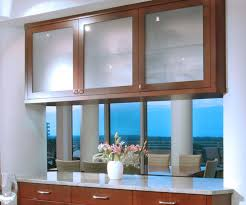 glass fronted kitchen cabinets