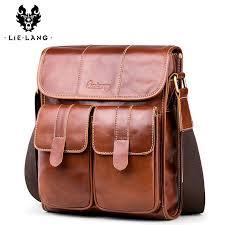 <b>LIELANG</b> Men <b>Shoulder Bag</b> Messenger Genuine <b>Leather</b> ...