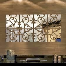 32pcs <b>Removable</b> 3D Mirror Acrylic Wall Sticker DIY <b>Art Vinyl</b> Decal ...