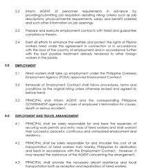 for employers srl international manpower services recruitment agreement recruitment agreement 2