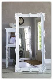 leaning white baroque mirror large shabby chic mirror vintage leaner floor antique dresser framed leaning mirror shabby chic