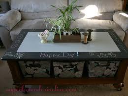 chalkboard coffee table redo chalk paint coffee table