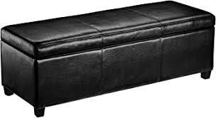 First Hill Madison Rectangular Faux Leather <b>Storage</b> Ottoman <b>Bench</b>