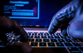 Payments System Hacking  Online Credit Cards Payment Security Concept  Hacker in Black Gloves Hacking