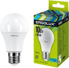 <b>Светодиодная лампа Ergolux LED</b>-<b>A60</b>-<b>10W</b>-E27-4K - купить ...