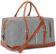 S-ZONE <b>Women</b> Weekender <b>Bag Large</b> Capacity Canvas <b>Travel</b> ...
