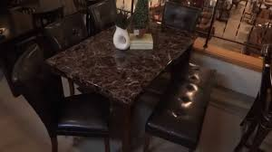ashley furniture kitchen tables: ashley furniture lacey dining table set w bench d review youtube