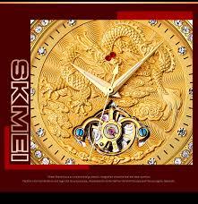 <b>SKMEI</b> Luxury <b>Automatic Mechanical Men</b> Watches Dragon ...