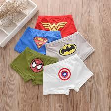 5pcs/lot <b>Kids Boys Underwear</b> Cartoon <b>Children's Shorts</b> Panties for ...