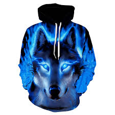 <b>2019 New</b> Star headed <b>wolf</b> print Hoodies Men 3D Sweatshirt ...