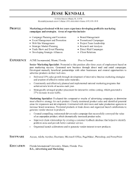 resumes for marketing professionals cipanewsletter cover letter sample resumes for marketing sample resume for