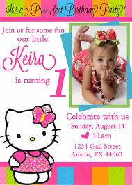 personalized hello kitty birthday invitations drevio invitations personalized hello kitty birthday invitation custom photo