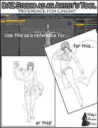 daz studio as an artist s tool reference for lineart d models daz studio as an artist s tool reference for lineart in vendor kittystavern 3d