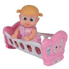 <b>Bouncin</b>' <b>Babies</b> Кукла Бони с кроваткой, 16 см