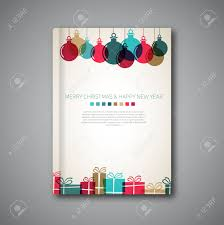 christmas flyer stock photos pictures royalty christmas christmas flyer christmas book cover or flyer template vintage retro gifts and balls style