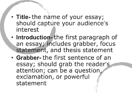 essay writing terms title  the name of your essay should capture  title  the name of your essay should capture your audience  s interest introduction