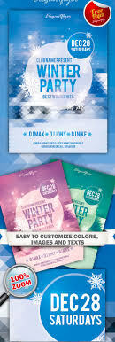 70 best flyer psd templates designmaz winter party and club flyer psd template ·