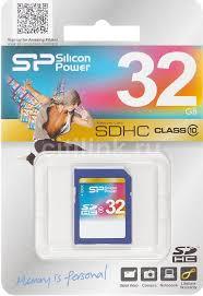 Купить <b>Карта памяти</b> SDHC <b>SILICON POWER</b> 32 ГБ в интернет ...