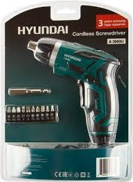 <b>Аккумуляторная отвертка Hyundai A</b> 3600Li купить в интернет ...