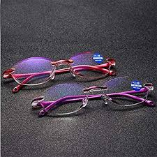 <b>Diamond Cutting Rimless</b> Anti-Blu-ray <b>Reading</b> Glasses: Amazon.in ...