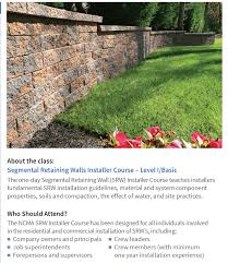 Small Picture Segmental Retaining Walls Installer Course NJ Gravel and Sand