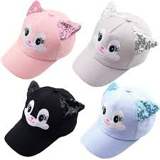 Baby <b>Hat Cartoon Child</b> Korean Cat Ears Cotton Baseball <b>Caps</b> ...