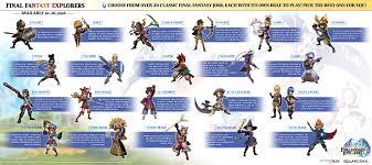 final fantasy explorers 21 job classes detailed gematsu final fantasy explorers