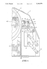 patent us5183978 elevator governor rope block actuation in low on simple elevator schematics