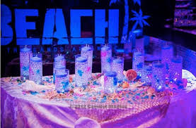 beach theme bar bat mitzvah candle lighting display beach theme lighting
