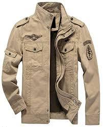 chenshijiu <b>Mens Autumn Large Size</b> Zip up Cotton Military Jacket ...