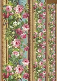 Декупажная карта <b>Stamperia</b> DFG357, Бордюр с розами. <b>Бумага</b> ...