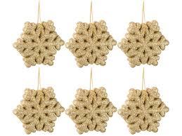 Декоративное изделие:<b>набор</b> снежинок из 6 шт. цвет: золото ...