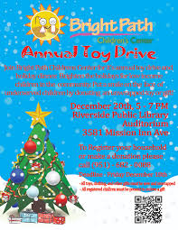 bright path annual toy drive and christmas dinner flyer for bright paths annual toy drive