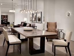 chair dining tables room contemporary: contemporary dining room love the modern wood dining table the chandelier lighting