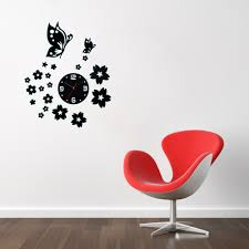 aliexpresscom buy 3d wall clocks unique butterfly and flowers design mirror face wall clock home office decoration needle diy wall clocks from reliable aliexpresscom buy office decoration diy wall