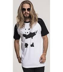 рубашка <b>Urban Classics Banksy</b> Panda Raglan/MC092 - White ...