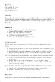 resume templates event coordinator assistant advertising assistant resume