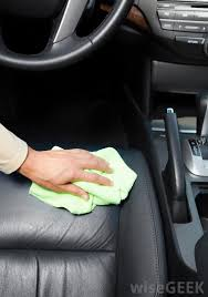 a leather interior is easy to clean but requires care to maintain best fabric cleaner for furniture
