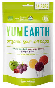 <b>Органические леденцы на палочке</b> YumEarth Organic Sour ...